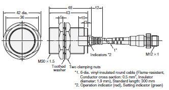 E2eq Spatter Resistant Proximity Sensor Dimensions Omron