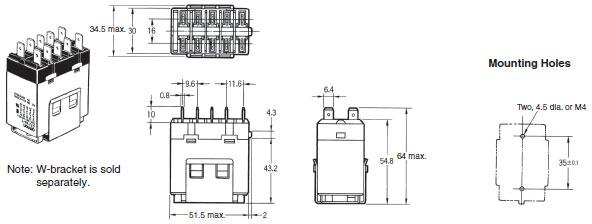 g7j power relay  dimensions