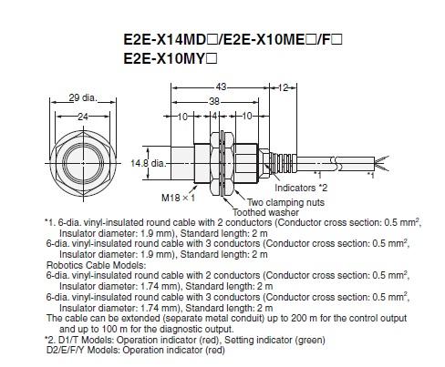Cảm biến từ Omron E2E-X10MF2 - Etech