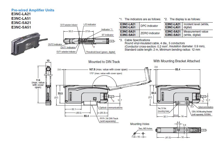 E3NC-SA51 2M   OMRON Industrial Automation