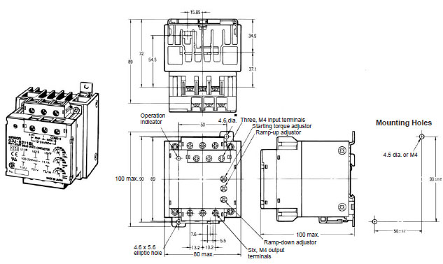 g3j stop solid state contactors  dimensions