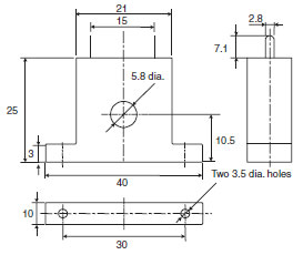 CJ1W-TC Dimensions 4 E54-CT1_Dim