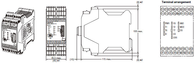 G9SX-LM Dimensions 1